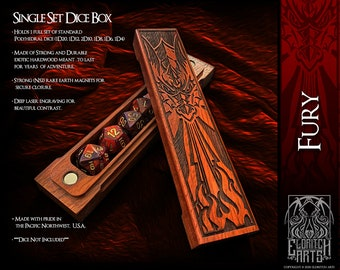 Dice Box - Fury - RPG, Dungeons and Dragons, D&D, DnD, Pathfinder, Table Top Role Playing and Gaming Accessories by Eldritch Arts
