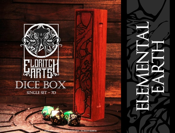 Dice Box - Elemental Earth - RPG, Dungeons and Dragons, D&D, DnD, Pathfinder, Table Top Role Playing and Gaming Accessories by Eldritch Arts