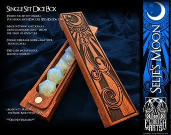 Dice Box - Selje's Moon - RPG, Dungeons and Dragons, D&D, DnD, Pathfinder, Table Top Role Playing and Gaming Accessories by Eldritch Arts