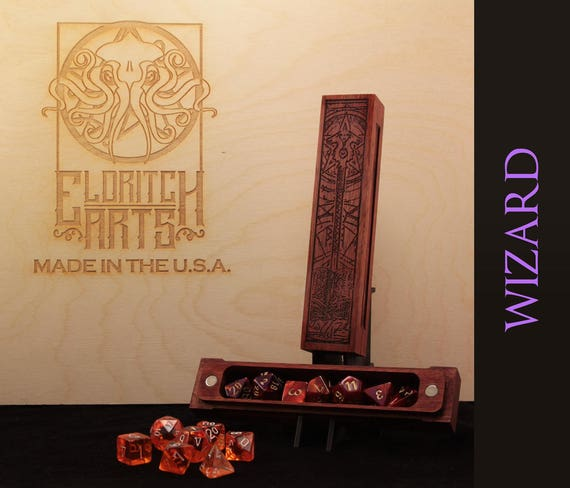 Dice Box - Wizard - RPG, Dungeons and Dragons, D&D, DnD, Pathfinder, Table Top Role Playing and Gaming Accessories by Eldritch Arts
