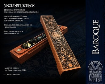 Dice Box - Baroque - RPG, Dungeons and Dragons, D&D, DnD, Pathfinder, Table Top Role Playing and Gaming Accessories by Eldritch Arts