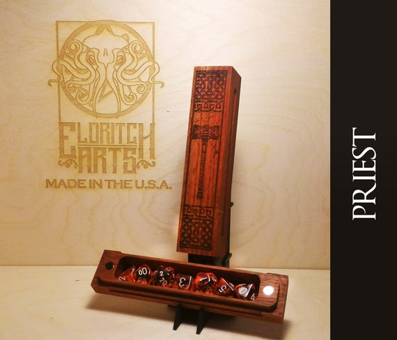 Dice Box - Priest - RPG, Dungeons and Dragons, D&D, DnD, Pathfinder, Table Top Role Playing and Gaming Accessories by Eldritch Arts