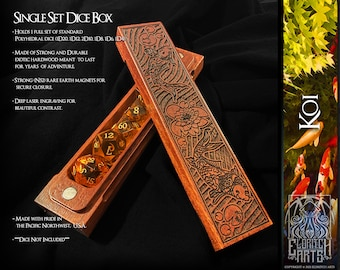 Dice Box - Koi -  RPG, Dungeons and Dragons, D&D, DnD, Pathfinder, Table Top Role Playing and Gaming Accessories by Eldritch Arts