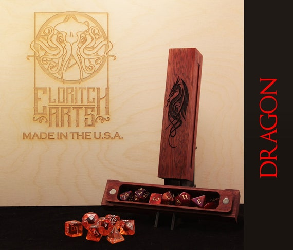 Dice Box - Dragon - RPG, Dungeons and Dragons, D&D, DnD, Pathfinder, Table Top Role Playing and Gaming Accessories by Eldritch Arts
