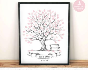 wedding guest book tree, wedding tree, tree guestbook, wedding guest book, fingerprint tree, custom wedding gift, unique wedding gifts,