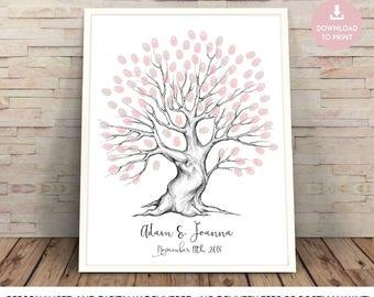 alternative wedding guest book ideas, fingerprint tree, wedding guest book, wedding tree guest book, wedding tree, fingerprint guestbook