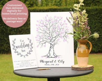 fingerprint tree, wedding tree, finger print tree, thumbprint tree, wedding guest book ideas finger prints, wedding tree guest book gifts