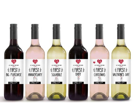 Hochzeit Geschenk-Idee Wein Etikett Meilenstein | Etsy