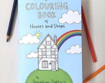 Kleurplaten Van Huizen : Kleurplaten voor volwassenen etsy