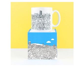 SHEFFIELD MUG - Sheffield View - Illustration, line drawings