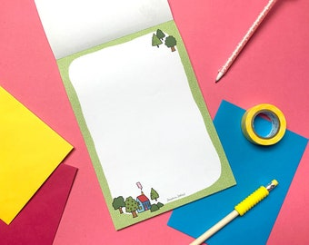 Cute Cottage Letter Writing Paper Stationery - Snail Mail Postable Gift