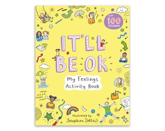 SIGNED + FREE GIFT It'll Be Ok: My Feelings Activity Book Signed Copy + 2 Free Colour In Postcards