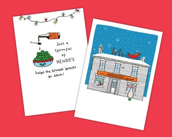 SHEFFIELD CHRISTMAS CARDS Hendersons Relish - Pack of 6