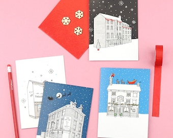 Sheffield Pubs Christmas Cards Pack of 8