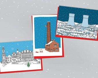 Sheffield Landmarks Christmas Cards Pack of 6