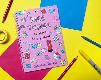 Nice Things to Send to a Friend - Stationary activity book - Snail Mail Postable Gifts