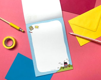 Cute Postie Letter Writing Paper Stationery - Snail Mail Postable Gift