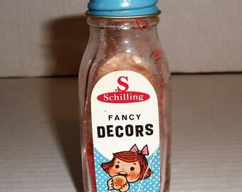 Schilling Fancy Decors.   Crystals.  McCormick Co.
