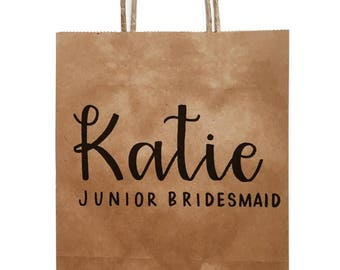 Personalized Gift Bags, Bridesmaid Bags, Thank You bags, Welcome bags, Wedding, Gift Bags, Bachelorette Party Bags, Bridal Shower, Custom