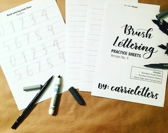 Brush Lettering Practice Sheets Ver. No. 4