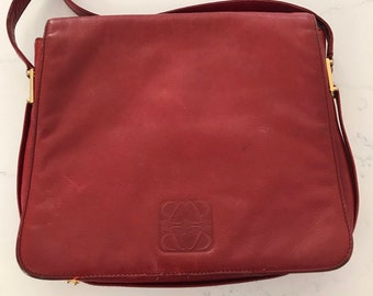 c8e3b9c0d54a Amazing LOEWE Vintage Red Leather Bag  free shipping
