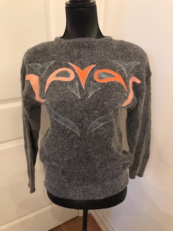 Vintage Patchwork Angora sweater