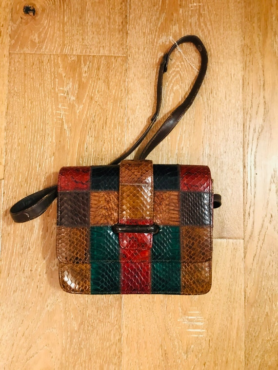 Patchwork Leather 1980's Bag