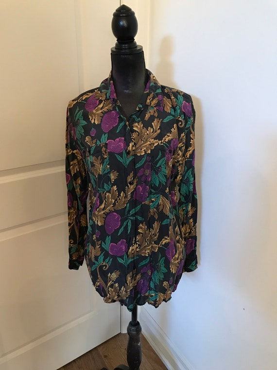 Retro 1980s long blouse