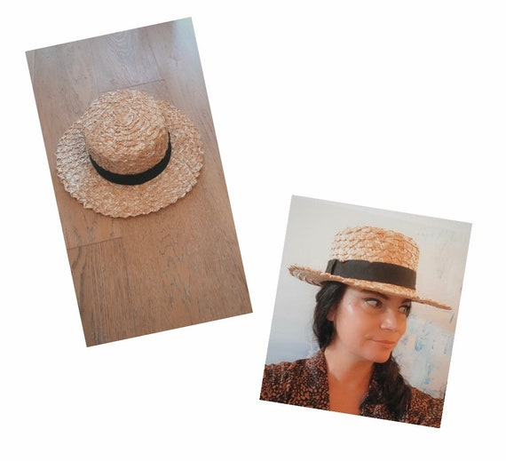 BOATER Hat with Large Weave straw