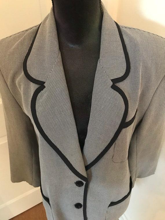 Houndstooth Oversized blazer