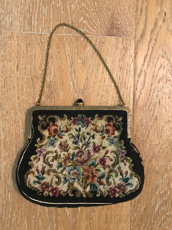 1950's Austrian Tapestry Evening bag