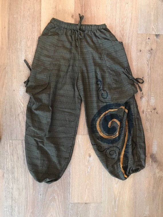 Vintage Gaucho Hand painted Pants 'free shipping'