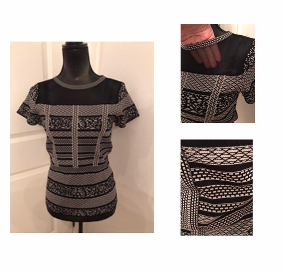Vintage Fine Knit and Mesh Top