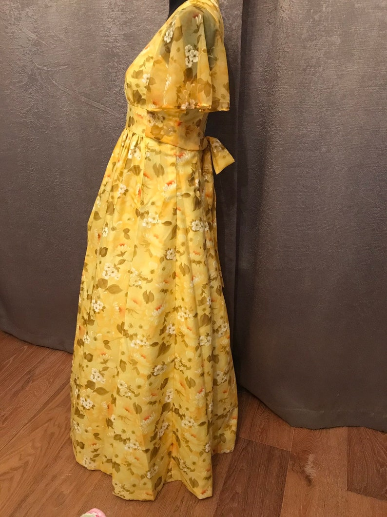 Vintage Butterfly Sleeve Bohemian Dress /'free shipping/'