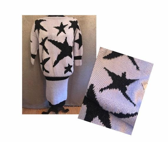 Vintage 1980's Star KNIT dress
