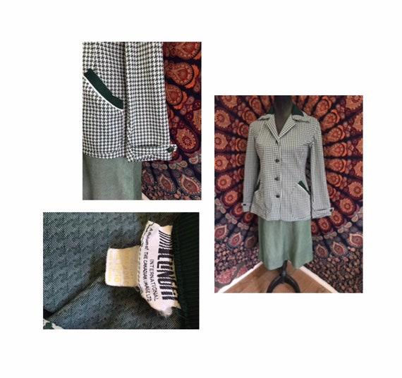 Vintage 1960's Two Piece CLINGFIT Suit