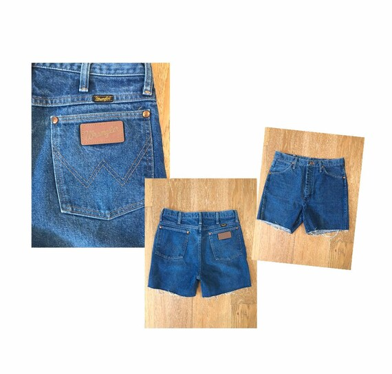 Vintage High Waisted WRANGLER Denim Shorts