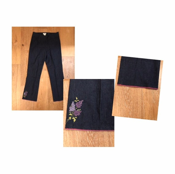 High Waisted Retro embroidered Jeans