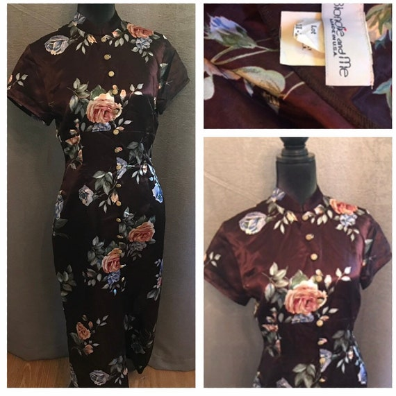 Vintage 1990's Asian Inspired Fitted dress