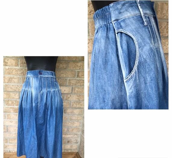 Vintage High waisted pleated Skirt