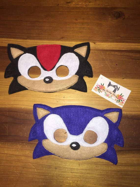 Sonic The Hedgehog And Shadow Inspired Felt Masks Etsy
