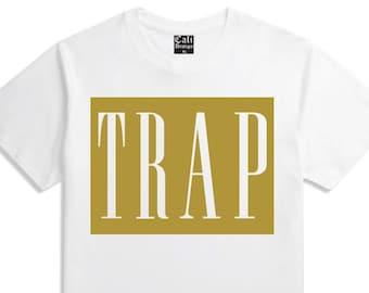 b144ea40 Gold Trap T Shirt Hustle Plug Rap House XXX Migo Street wear Clothing White  Tee