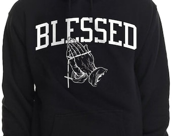 789f956e241 Blessed Hoodie Pullover Sweatshirt Urban Wear Praying hands Summer 16 God  Drake