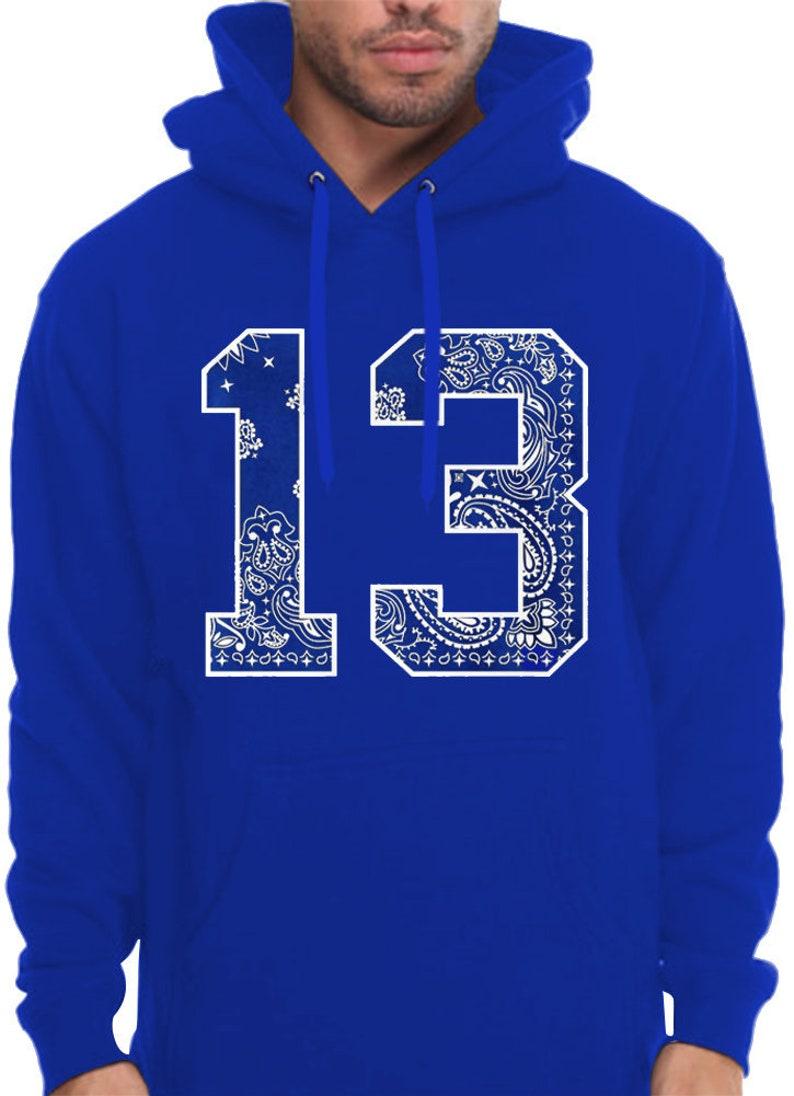 Mens Blue OG Hoodie Original Gangster LA Crip 13 Southside Hooded Sweatshirt