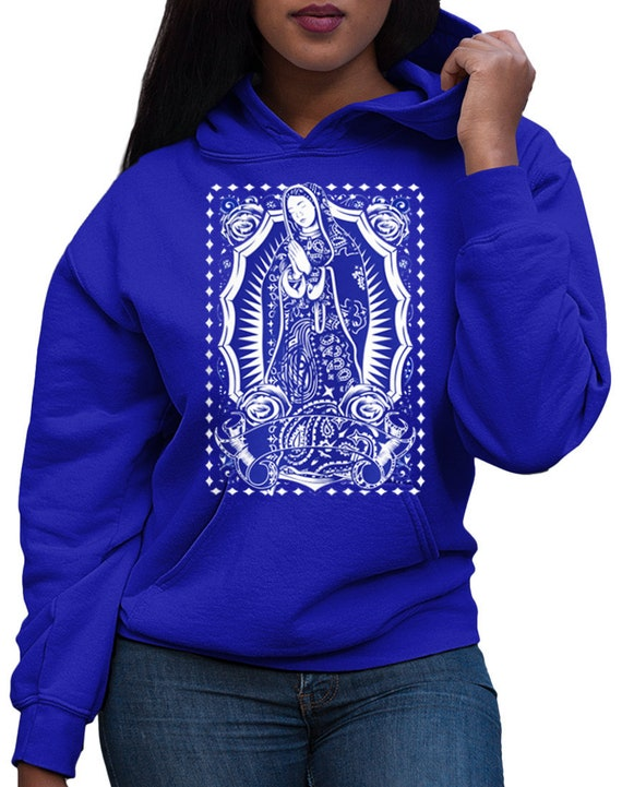 Men Women Unisex The Madonna Our Lady Of Guadalupe Virgin Mary Black Zip Hoodie