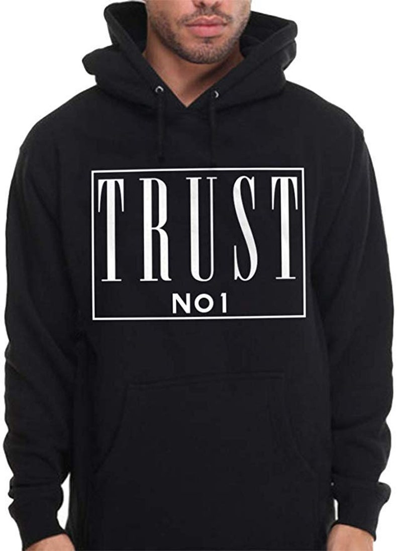 b963b7c64f Mens Trust No 1 Hoodie nobody pac urban wear rap pullover sweatshirt