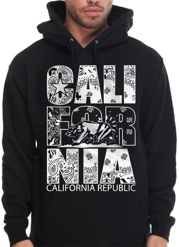 Golden State California Mens Heavyweight Pullover Hoodie