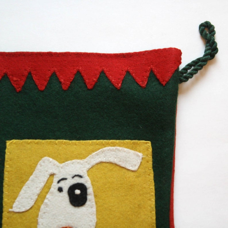 Spots Christmas.....small dog stocking