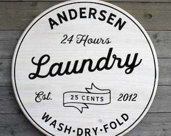 Personalized Sign Laundry Room Decor Farmhouse Laundry Sign Laundry Sign Custom Sign Bath or Toilet Room Sign Vintage Laundry Sign