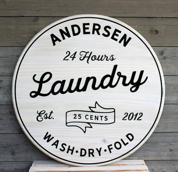 Laundry Room Sign Personalized Laundry Signs Laundry Decor Etsy